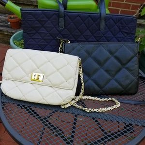 3 Paradox and Talbots Quilted Leather Purses Bags